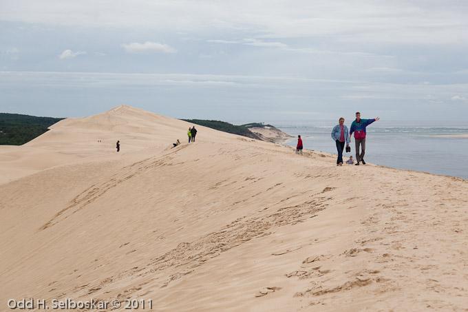 Europas største sanddyner ved Pyla sør for Arcachon - opptil 120 m høye
