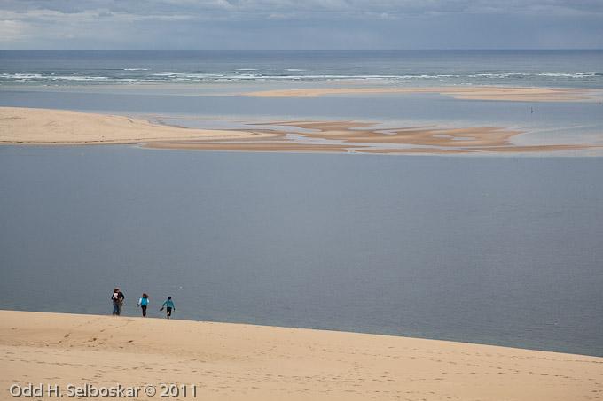 Utsikt over Biscayabukten fra sanddynenen ved Pyla sør for Arcachon